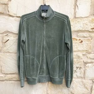 Juicy Couture Green Full Zip Velour Track Jacket L